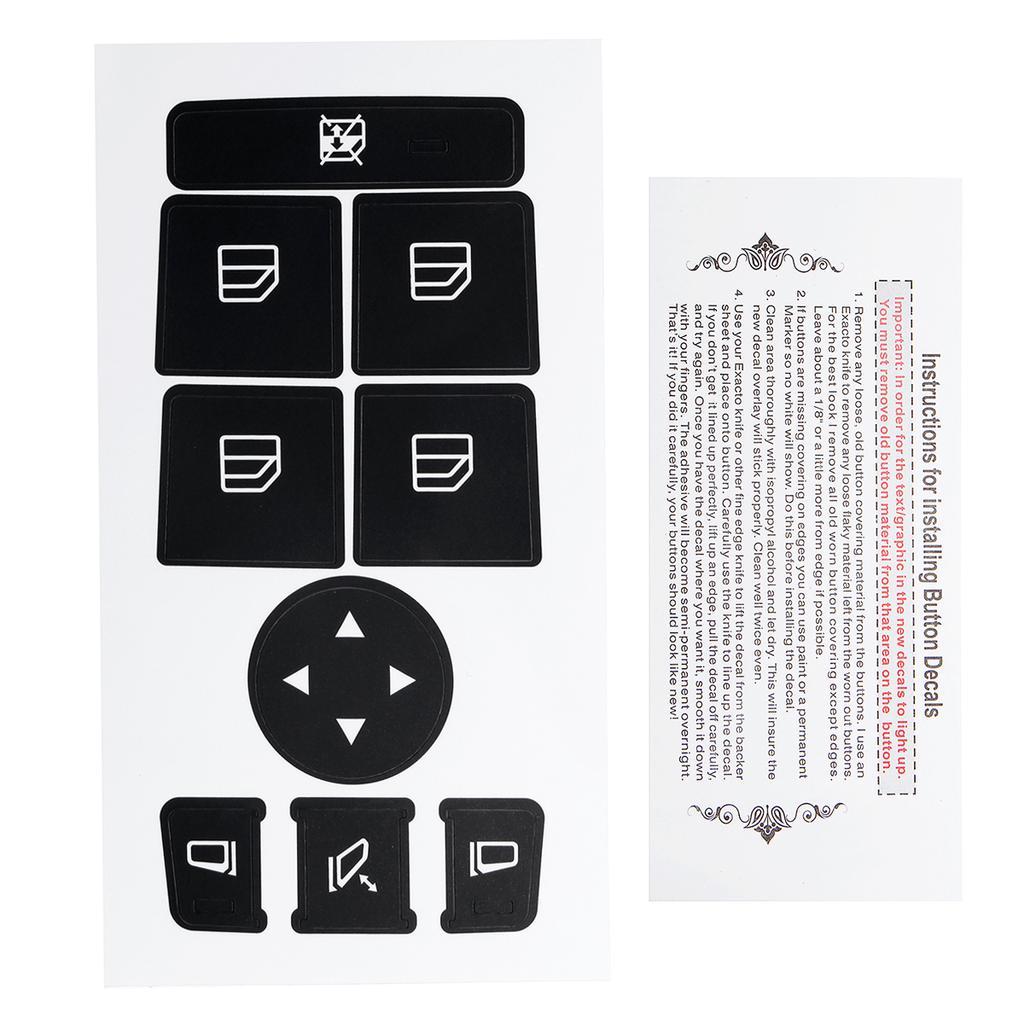 Window Switch Button Repair Stickers Fit 2008-2014 Mercedes Benz W204 C300 C350