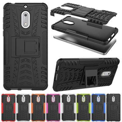 Nokia 6 Case Shockproof Armor Full Body Protective Case with Kickstand Cover for Microsoft Lumia 550