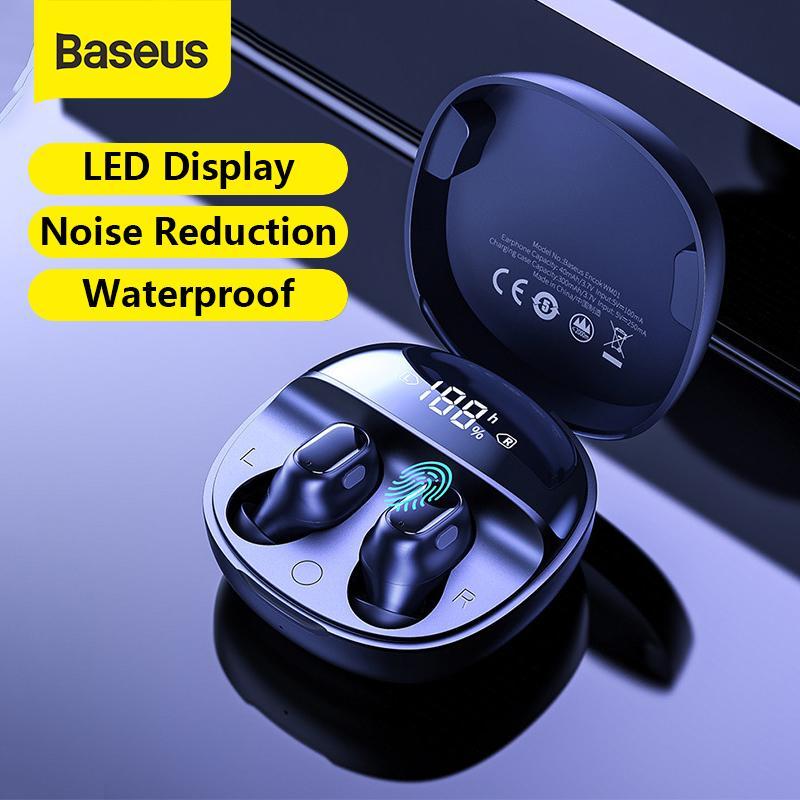 Беспроводные наушники Baseus Encok WM01 Plus с шумоподавлением, микрофоном,  кнопкой управления и зарядным футляром с дисплеем – купить по низким ценам  в интернет-магазине Joom