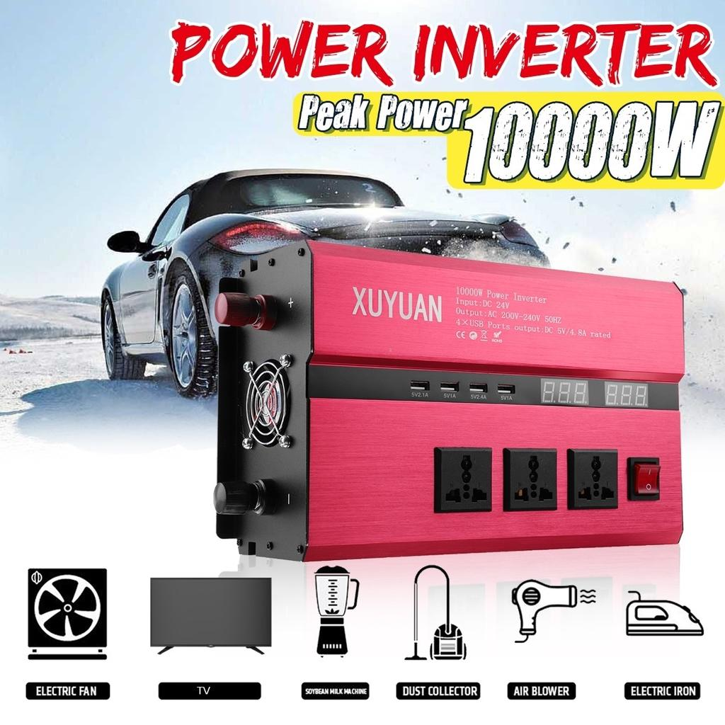 3000W Car Power Inverter LED DC 12V//24V to AC 110V//220V Sine Wave Converter Home