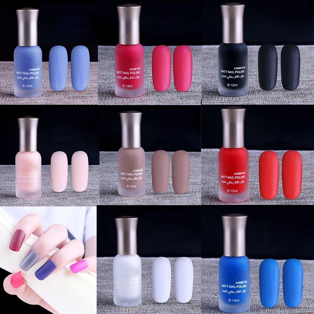 40 Colors Matte Nail Polish Candy Color Long Lasting Manicure Beauty ...