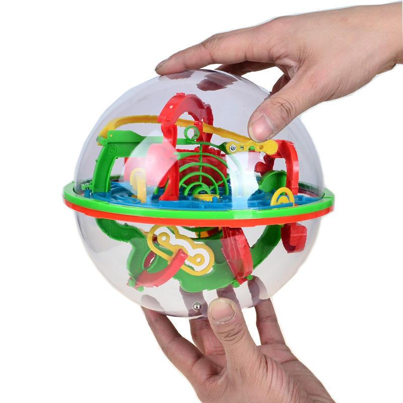 100 Pasos 3d Laberinto Magico Globo Bola Marmol Puzzle Cubos Cerebro
