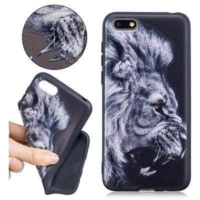 95a48e18186 Personalidad socorro León patrón negro suave resistente a la suciedad  protectora TPU para IPhone Samsung etcetera