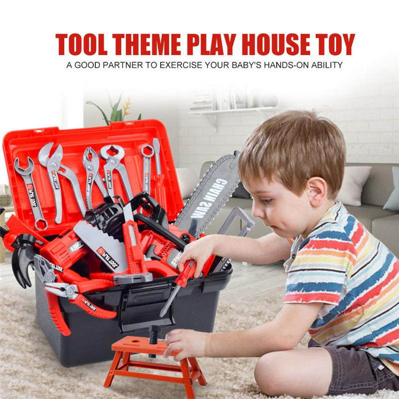 Kid Childrens Childs Toy Building Tool Kits Boys Builders Constructions Play Set