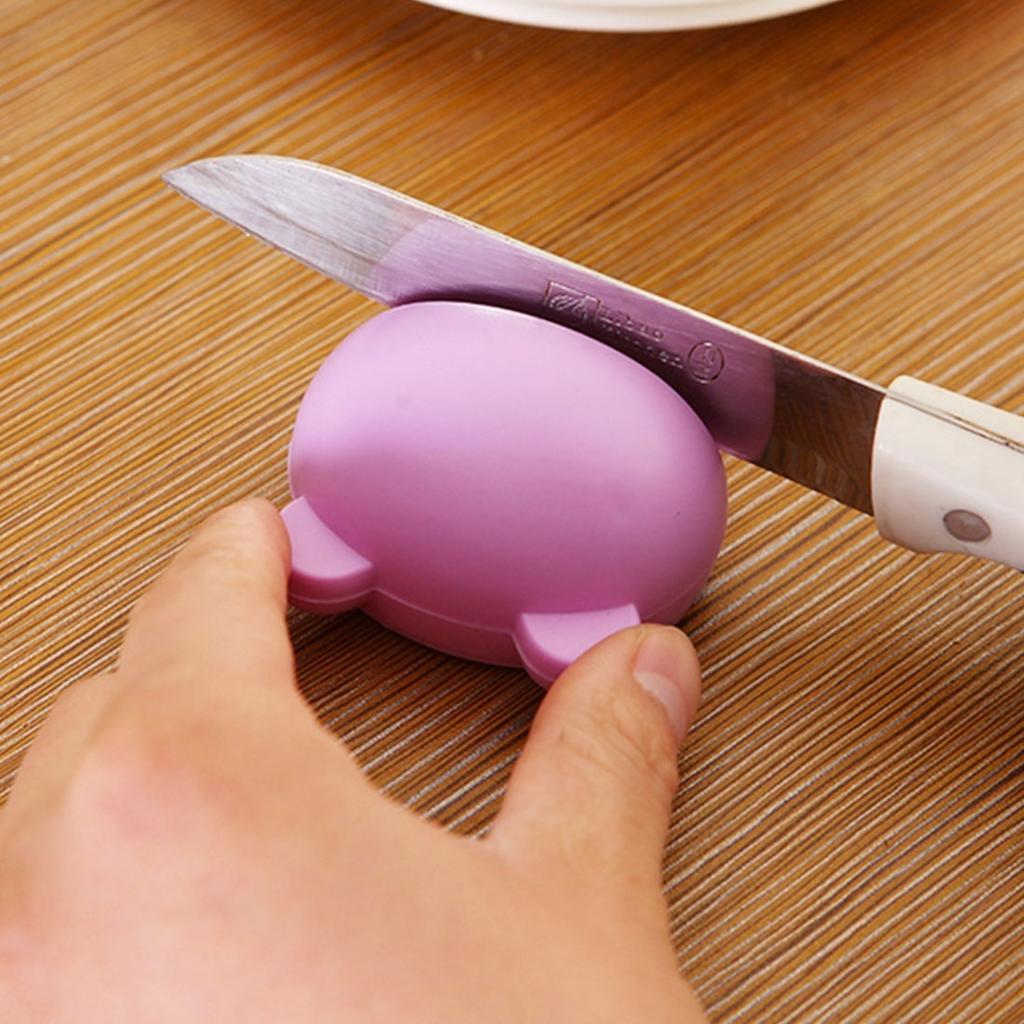 Мультфильм дизайн стабильной мини Нож точилка кухонные инструменты точильного камня фото