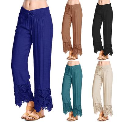 bcd34b98c4ff22 Women Fashion Waist Strappy Pants Sexy Trousers Casual Foot Pants Slim  Comfortable Pants Plus Size