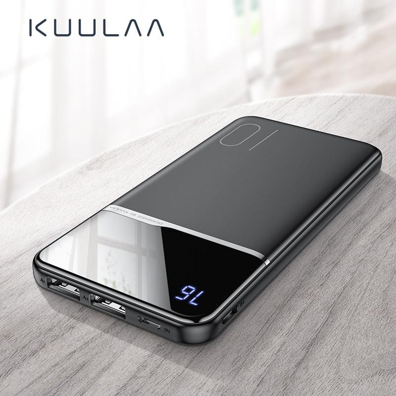KUULAA Power Bank 10000mAh Портативная зарядка PowerBank USB Внешнее зарядное устройство для мобильного телефона