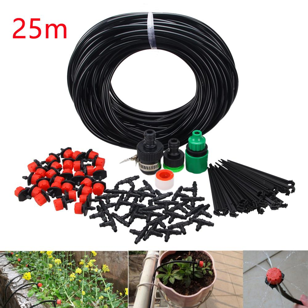 25m Diy Drip Irrigation System Automatic Watering Garden Hose Micro Drip Kits Adjustable Drippers Buy At A Low Prices On Joom E Commerce Platform