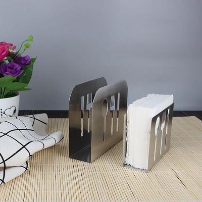 Metal Steel Napkin Rack Box Dispenser Tissue Holder Cutlery Table Decor Use New