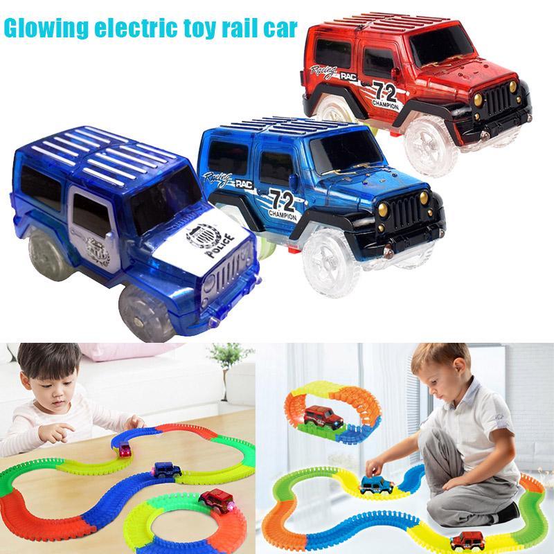 Светодиодный джип Glow в девочек Детские аксессуары автомобиль Игрушка Up Racing Boys Автомобили трек игрушка фото