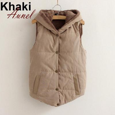 Жінки тепло взимку без рукавів лацкан суміш бавовни жилет пальто куртка Топ 62ab184e65a78