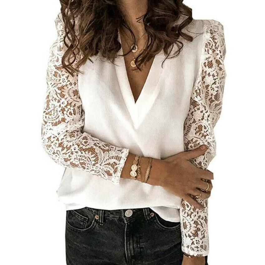 Women/'s Floral Print Casual Shirt Tops Crew Neck Loose Frill Bell Sleeve Blouse