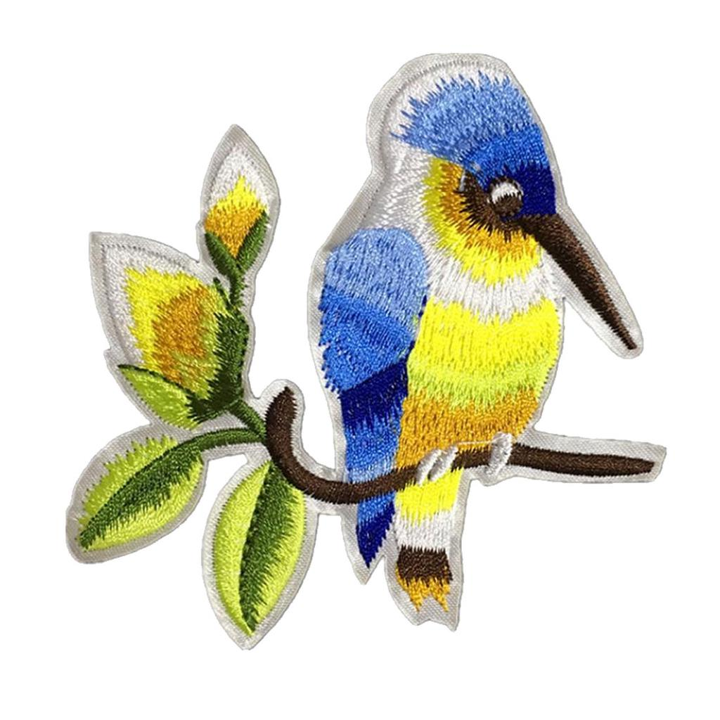 Bird Embroidered Sew On Patches Set Badge Bag Fabric Applique Craft JD