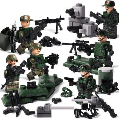 SWAT Team DIY Assault Boat City Police Military Figures Weapon Series Soldier