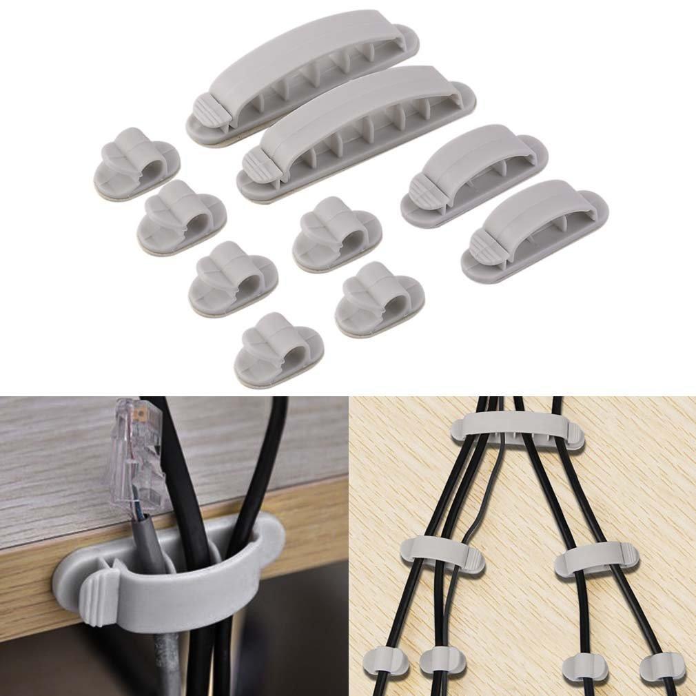 10PCS Draht fester Clip selbst klebenden Tisch Kabel aufräumen Clips ...