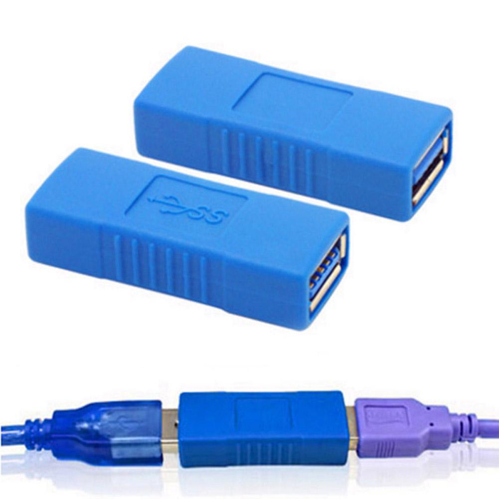2PCS USB 3.0 Type A Female To Female Adapter Coupler Changer Connector Accessory