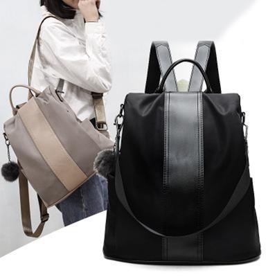 Women Black Shoulder Bag Soft Leather Backpack Small Rucksack Girls Waterproof