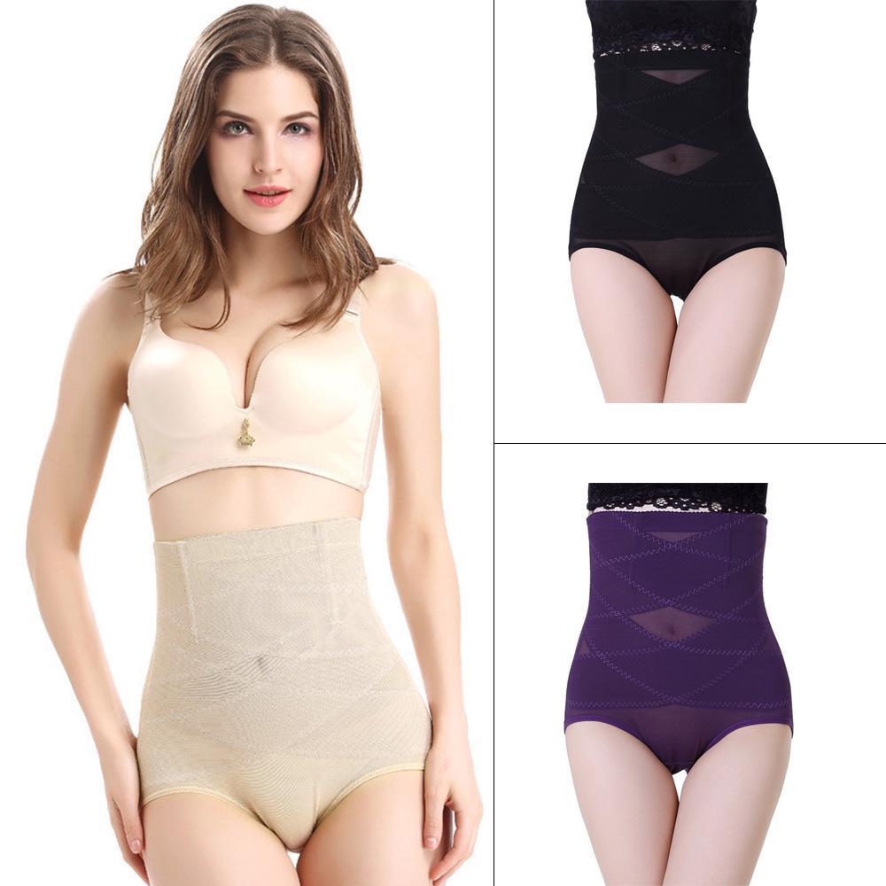 Frauen hohe Taille Body Shaper Tummy Control Cross Höschen schmaler ...