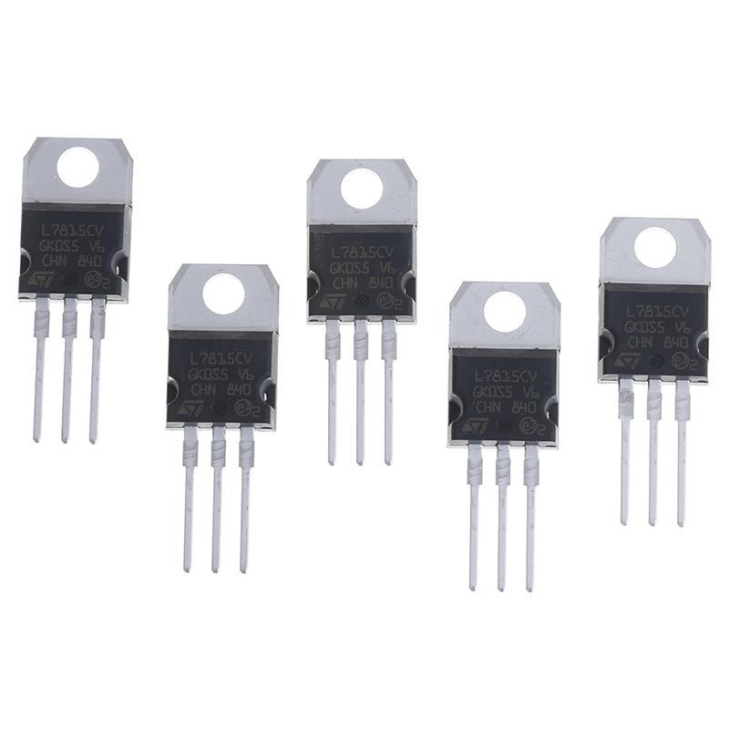 5Pcs//10PCS L7815CV LM7815 15V spannungsregler voltage regulator TO-220  ^S