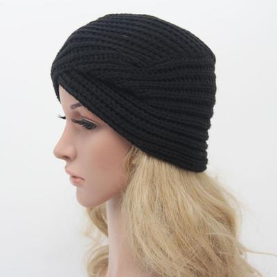 64e56ed5cf7 India Knitted Keep Plate Winter Head Hat Warm Autumn Cute Turban Cap Women  Person habiliment
