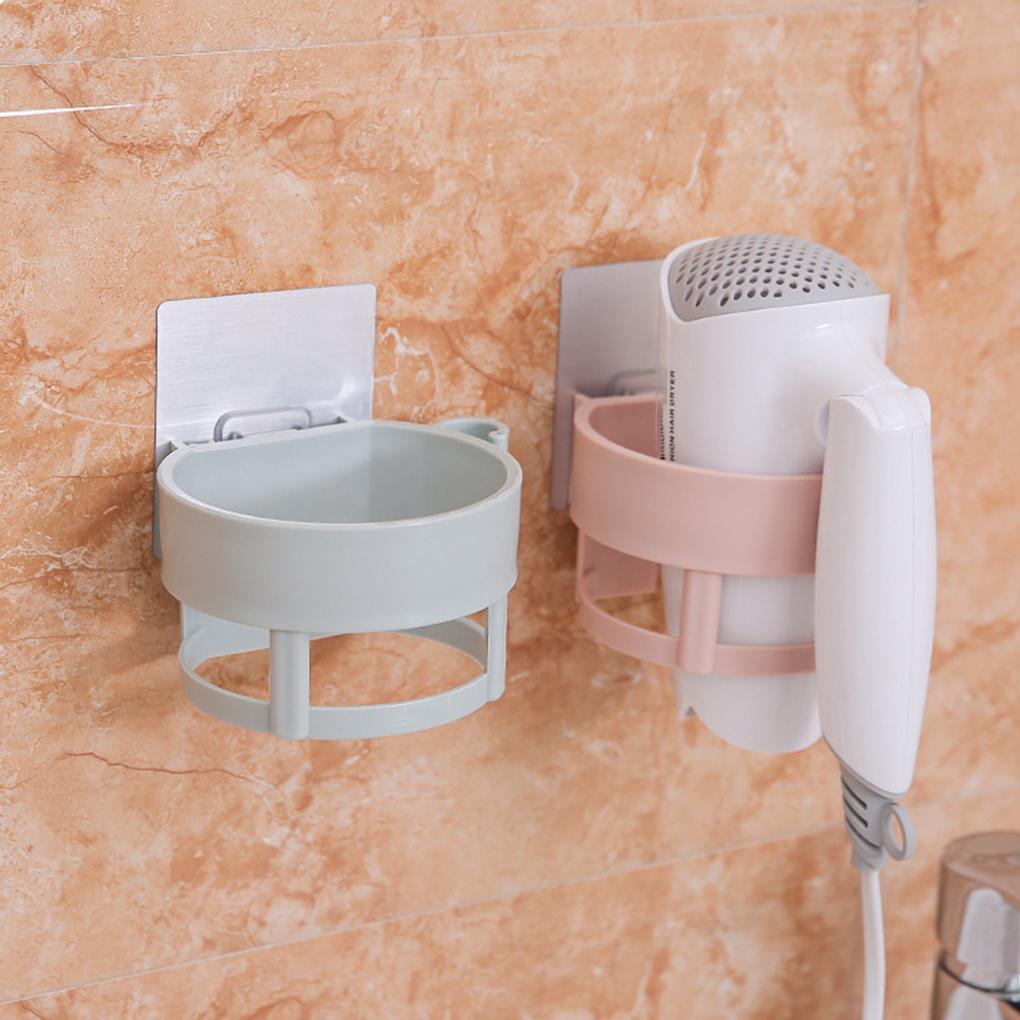 Настенный пластиковый держатель для хранения фена в ванной комнате фото