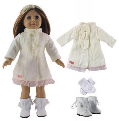 Ropa muñeca vestido azul cabe 18\