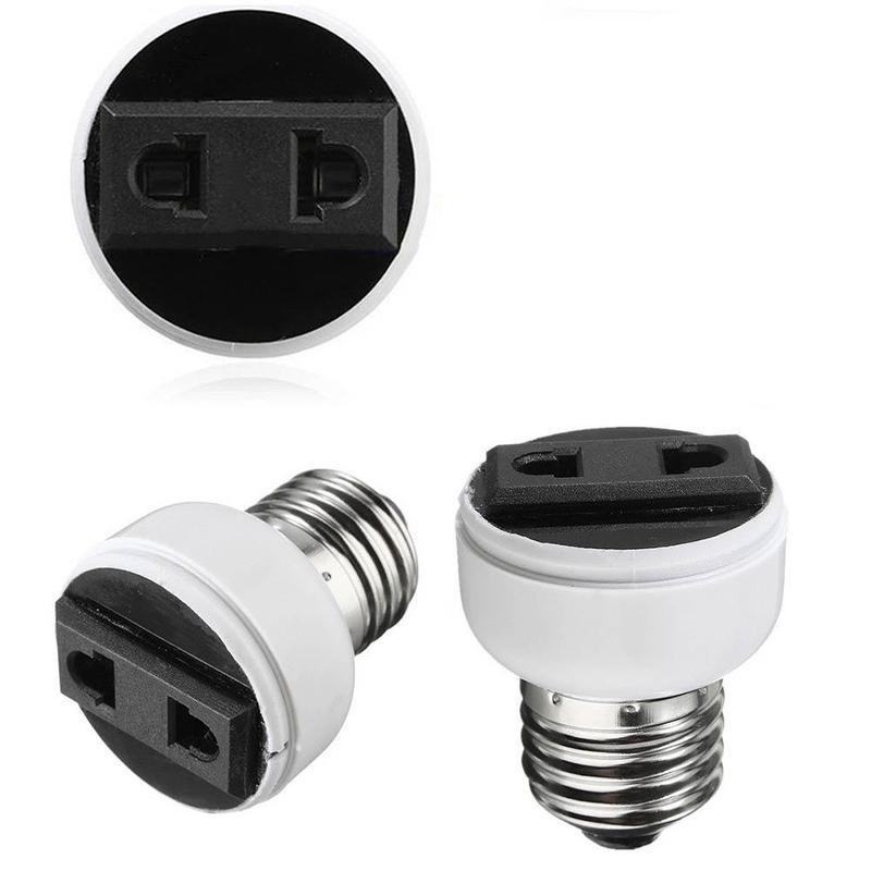 US 1Pc /_White Lamp Screw Base Bulb E27-E40 Adapter Light Holder Socket Converter