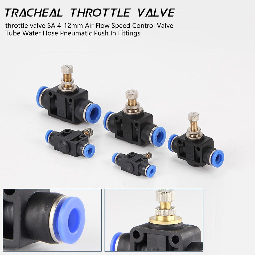5pcs 4mm to M5 BSP Flow Control Throttle Valve Pneumatic Connector Fittings