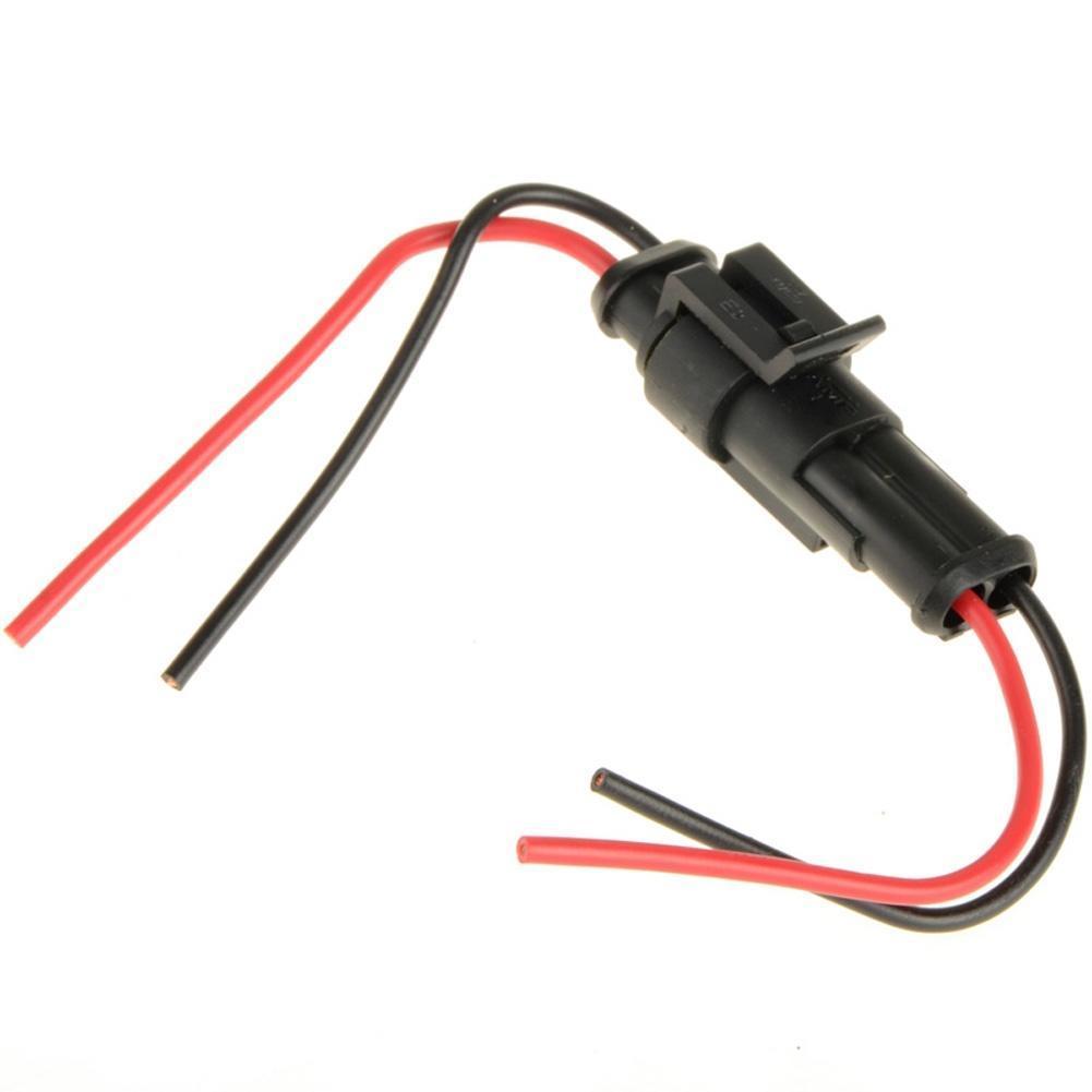 2-Pin wasserdichte Kabel Stecker Stecker Motorrad Auto Marine ...