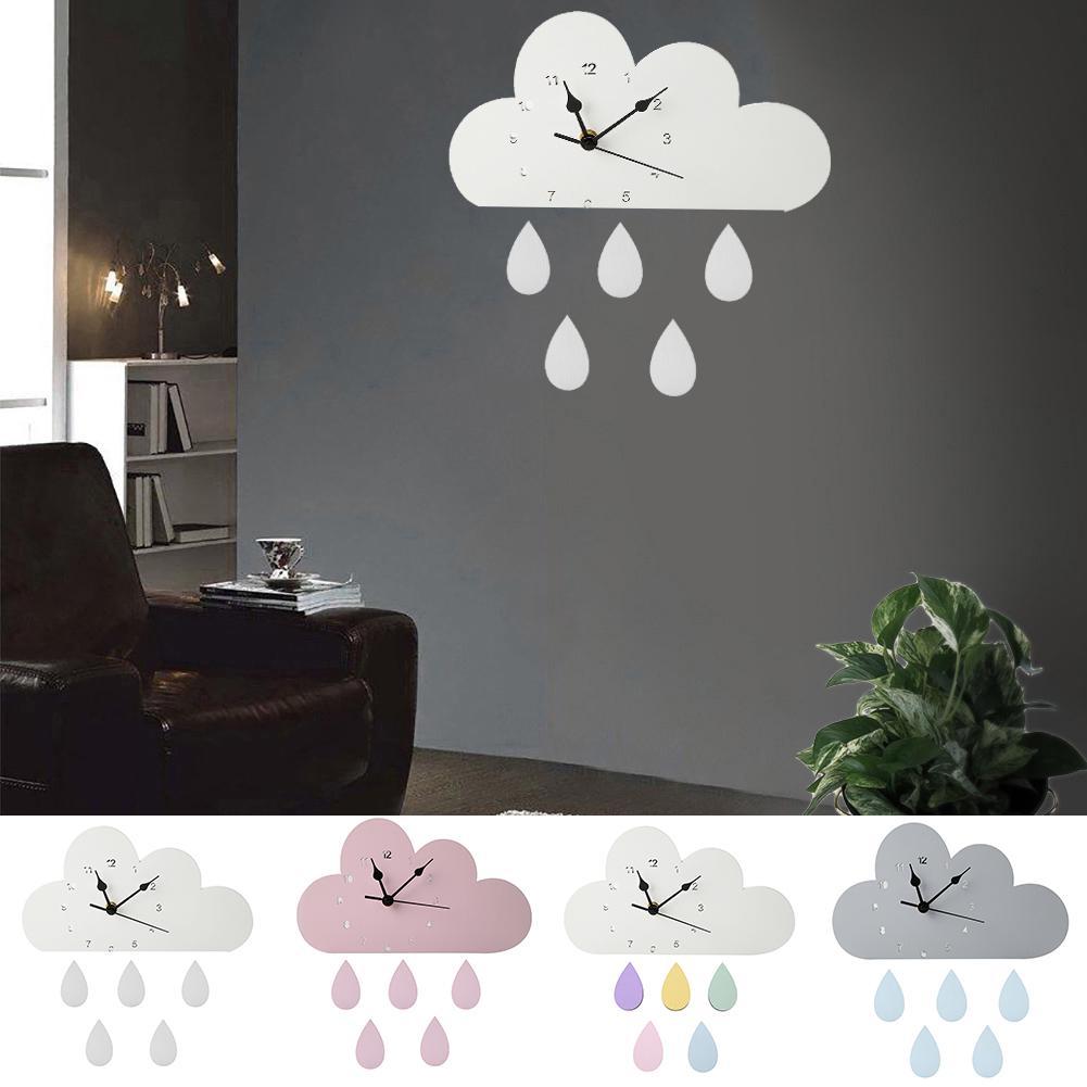 Kids Children Wall Hanging Mirror Creative Wall Art Home Decor Cloud Shape
