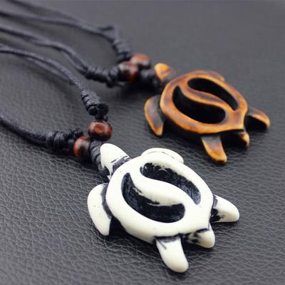 Imitation Bone Carved Sea Turtle Pendant Wooden Beads Hand Woven Necklace Buy At A Low Prices On Joom E Commerce Platform