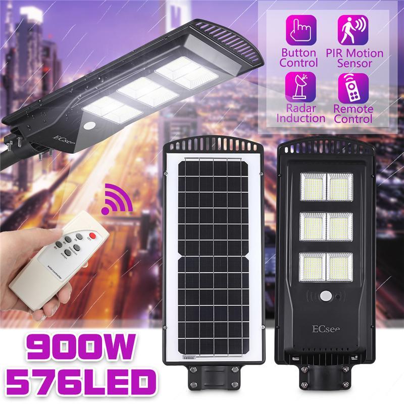 360W 351LED Solar Street Light Radar Induction Sensor Outdoor Garden
