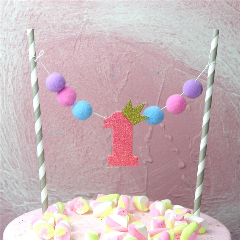9Pcs Christmas DIY Cake Topper Flag Cupcake Insert Card Kids Birthday Decor