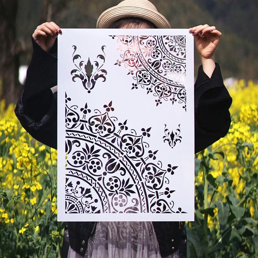 DIY Craft Mandala Stencils For Walls Painting Scrapbooking Stamping Stamp Album