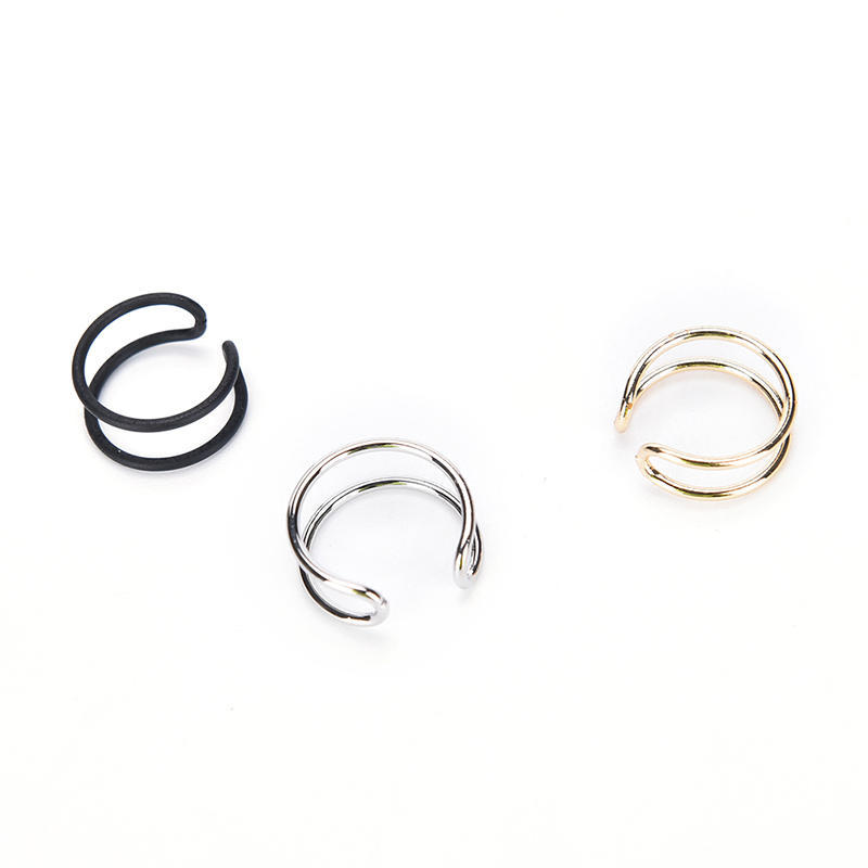 Gold And Copper Ear Cuff Trending Punk Adjustable Hoop Silver