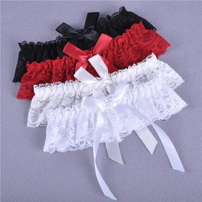 New Wedding Lace Floral Choker Bow knot Leg Garter Belt Suspender Strap One Size