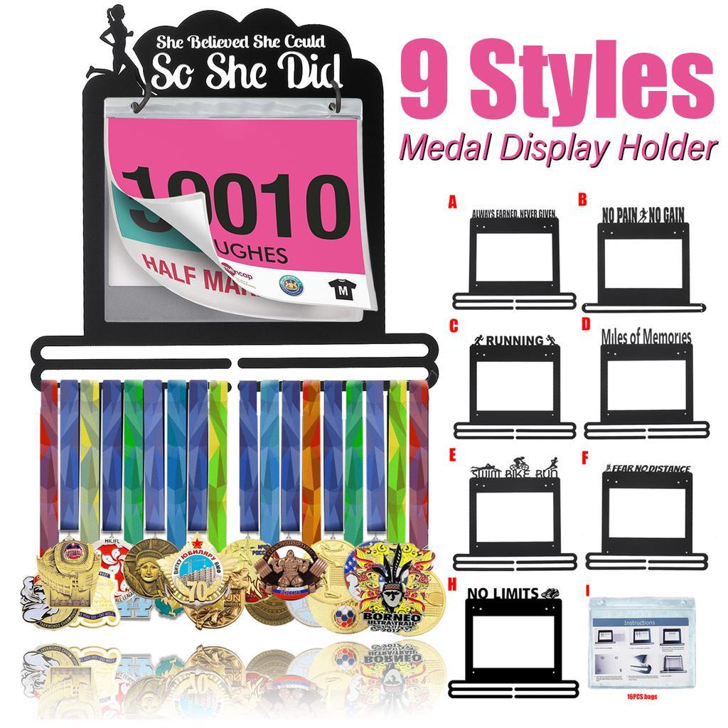 Medal Hanger Rack Holder Organizer Display Showcase Runner Race Bib Wall  !