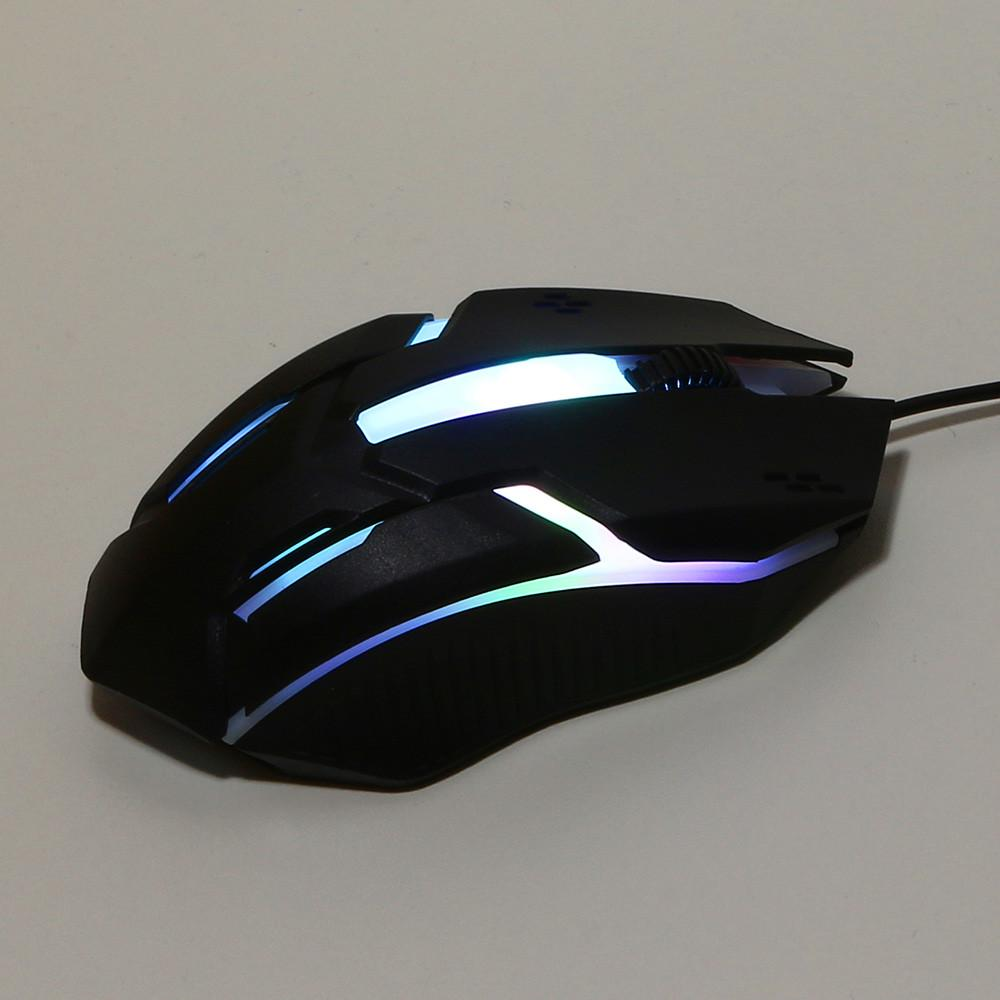 Computer Mouse 1200DPI USB Cable Optical Gaming Mouse Plug and Play Portable and Weight Light