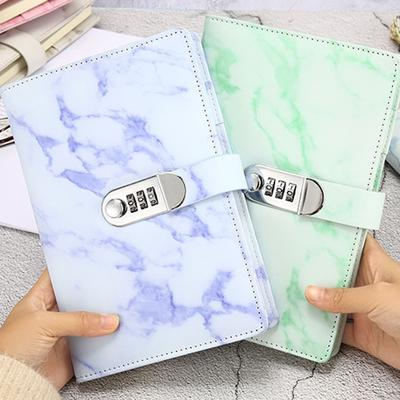 Password Lock Diary Bound Notebook Business Creative