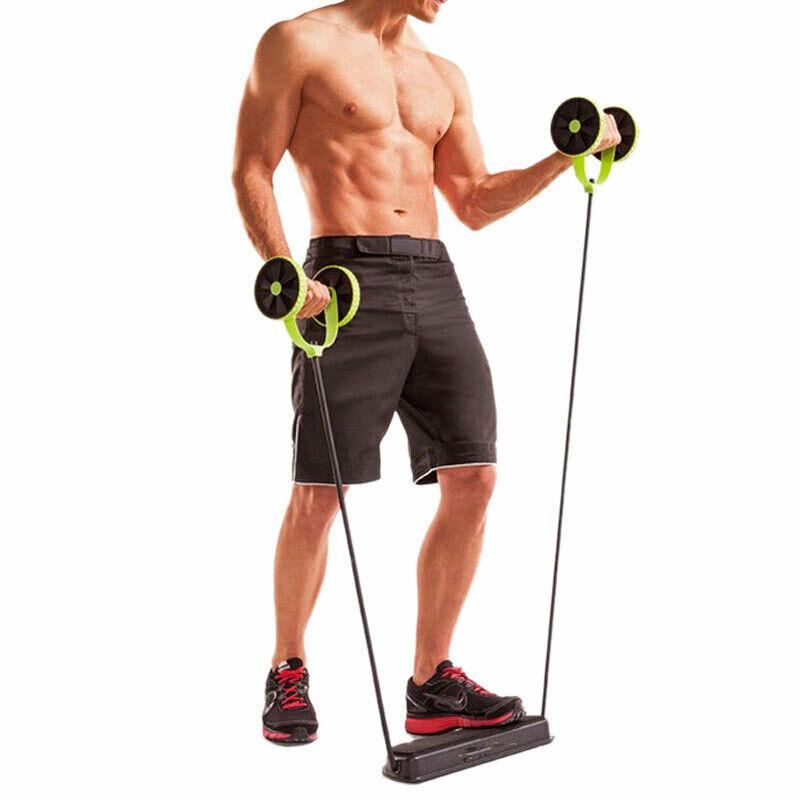 Abdominal Power Roll AB Trainer Waist Slim Exercise Core Double Wheel  Fitness - buy from 15$ on Joom e-commerce platform