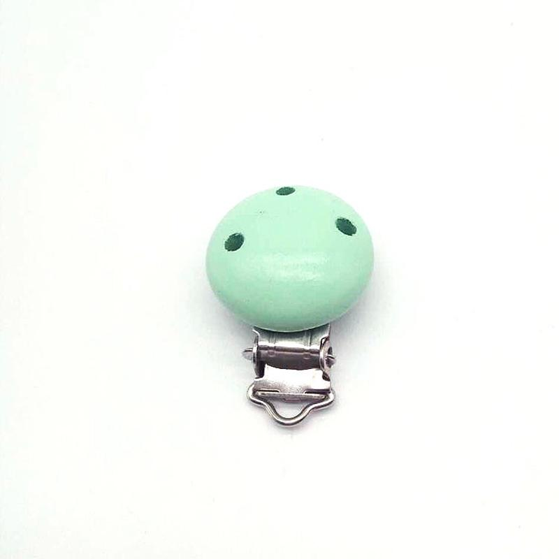 Children Infant Baby Pacifier Suspender Clips Holder Wooden Soother Dummy Nipple
