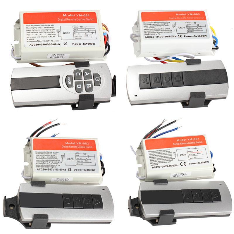 3 Ways ON//OFF 220V Wireless Remote Control Switch Digital Remote Control Switch