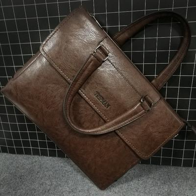 Mens Gentleman Busis Shoulder Bag Male Messenger Bags Solid Color Crossbody Bags Casual Handbag BK2
