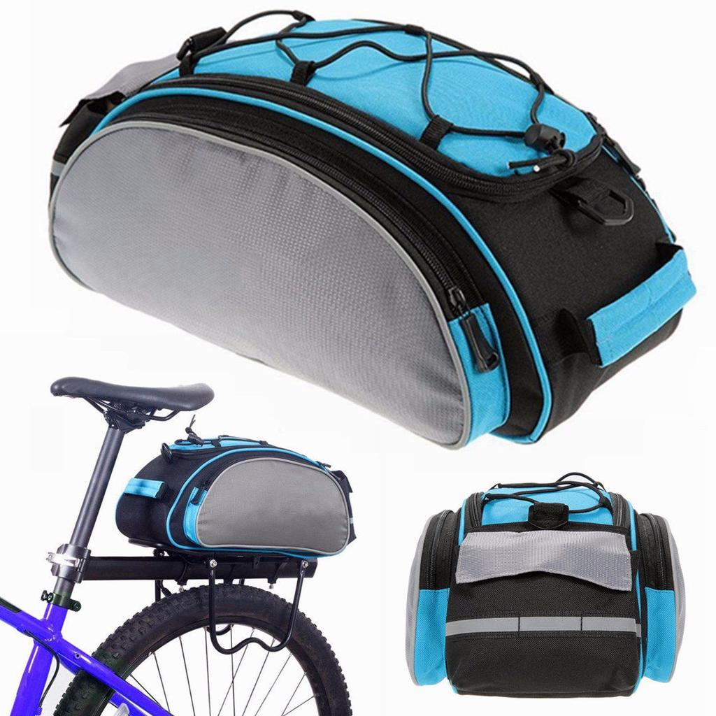 Bicycle Accessories Scratchproof Outdoor Cycling Handbag Bicycle Storage Pannier Bike Saddle Rack Rear Seat Bag Shoulder Cycling Bag #s