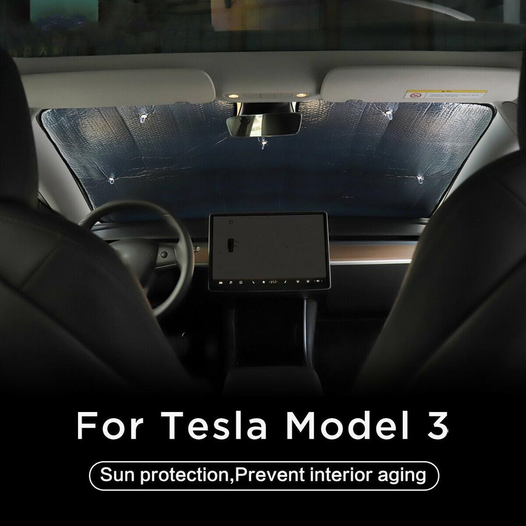Model 3 Windshield Sunshade Car Auto UV and Sun Protection Front Sun Shade for Tesla Model 3 Front Window