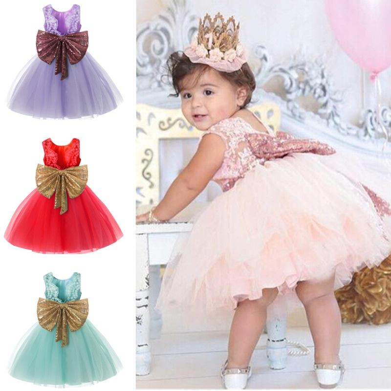 Infant  Baby Girls Princess Tutu Dress Gown Birthday Pageant Formal Party Dress