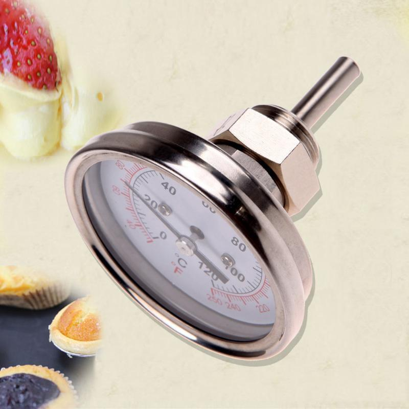 """1//2/""""Stainless Steel Thermometer for a Moonshine Still Condenser or Brew Pot"""