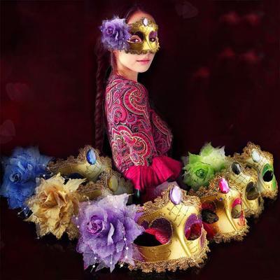 Ladies Women Lace Eye Mask Venetian Masqurade Ball Prom Party Halloween Costume