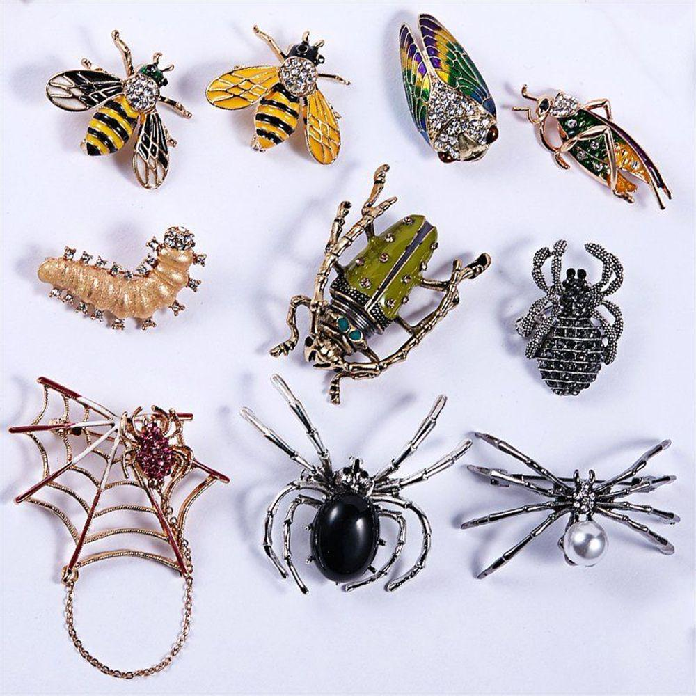 Creative Brooch Pin Brooch Alloy Diamond Drip Oil Grasshopper Brooch Clothing Accessories Womens Clothing Accessories Badge Pin Lapel Pin