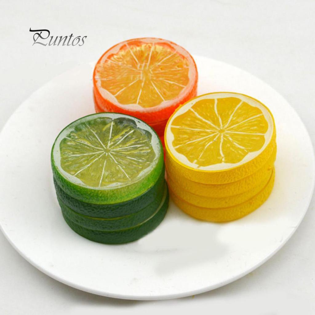 Multiple Artificial Fruits Plastic Faux Fruit Lemon Table DIY Home Display Decor